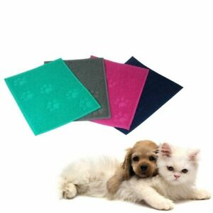 Square PVC Placemat Dog Puppy Pet Cat Dish Bowl Food Water Mat Wipe Clean UK