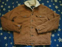 Corduroy SHERPA TRUCKER JACKET By FOREVER 21 Men's Small