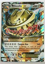MEGA Steelix EX SHINY ULTRA RARE 68/114 Pokemon TCG XY Steam Siege Holo Rare NM