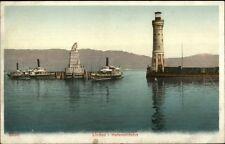 Lindau Germany Lighthouse c1910 Postcard