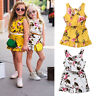 Cute Baby Kids Girls Floral Sleeveless Romper Bodysuit Jumpsuit Outfits Clothes