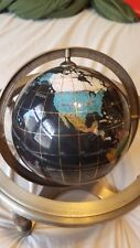 4 Leg Table Globe Gem Gemstone World Map Globe Made With Semiprecious Stones