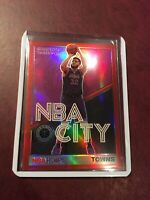 2019-2020 NBA Hoops Karl-Anthony Towns NBA City Red Prizm #14 Timberwolves.