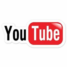"6""You Tube video sharing car bumper sticker / tool box decal"