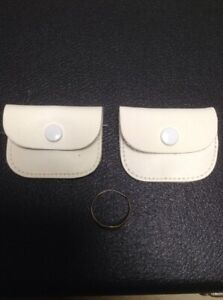 2 X Leather Ring Pouch, Ear Ring Or Wedding Ring Purse