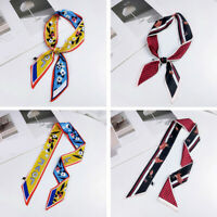 Spring Fashion Small Thin Silk Ribbon Hair Band Women Print Wrist Neck Ornament
