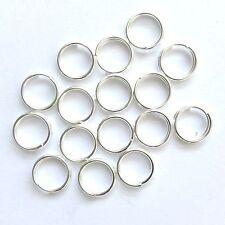 200 Plaqué Argent Findings 7 mm split rings