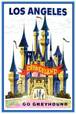 "VINTAGE DISNEY POSTER - GO GREYHOUND DISNEYLAND 8.5"" x 11"""