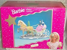 LOVELY BARBIE MR. CHRISTMAS HOLIDAY CARRIAGE! NRFB! MUSICAL! Factory Sealed 1998