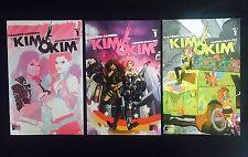Kim & Kim #1  3 Comic Lot - Reg & 2 Variant Covers Black Mask. Sold Out! LGBTQ