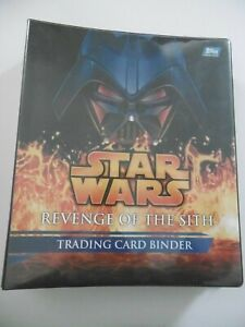 TOPPS STAR WARS REVENGE OF THE SITH BINDER AND COMPLETE BASE CARD SET 1-90