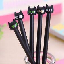 kit 5 penne penna gatto nero gattino gatti punta sottile 0.5mm ricaricabile