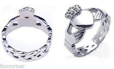 BUFFY Bague Buffy claddagh en acier inoxydable taille 65 Buffy claddagh ring