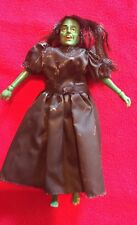 "1974 WIZARD of OZ 8"" mego doll WICKED WITCH with Black Cape"