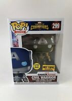 Funko Pop! Civil Warrior #299 Marvel Contest Of Champions GITD Hot Topic