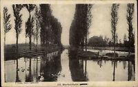 Markolsheim Elsass CPA Alsace Frankreich ~1920 Flußpartie Bäume ungelaufen