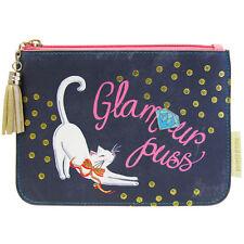 Glamour Puss CAT Diseño' ' patrón Bolsa/Damas Bolso de Maquillaje// Bolso de embrague
