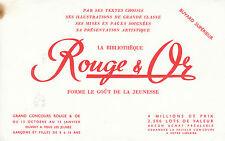 Buvard vintage rouge & or bibliothèque pour la jeunesse