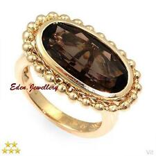 $1499 HIGH QUALITY 5 Star Ring  4.70ct Smoky QUARTZ 14K Gold 6.5g Size 7 80% OFF