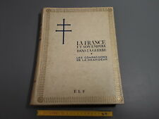 """antique Book """"On the France and his Empire in La guerre """" ww2 war mondial"""
