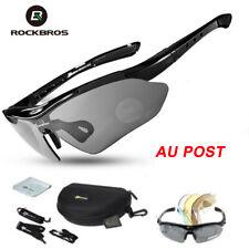 ROCKBROS Polarized Bike Cycling Glasses Riding Goggles Sunglasses UV400 Black AU