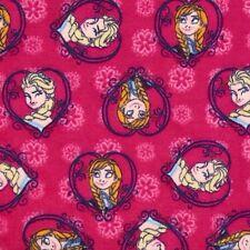 FROZEN~FLANNEL~Disney~ Sisters Forever -  ANNA & ELSA - FLANNEL -Fabric-1/2 yard