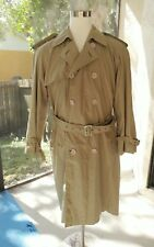 VTG Yves SAINT LAURENT Double Breasted Trench Coat Flannel Lined MENS 48 US 38