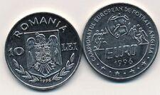 Romania 10 LEI 1996 UNC EURO CUP '96 ENGLAND Soccer Footbal CUP Rumania SPORT