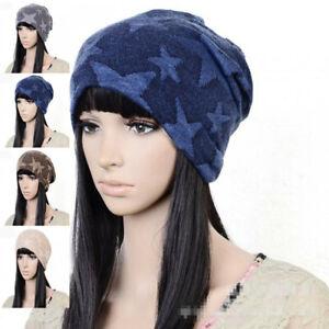 Women's Men's Unisex Winter Slouch Beanie Stretch Hat Cap HAT04