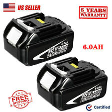 2X 6.0Ah LITHIUM ION BATTERY LXT FOR MAKITA BL1860 BL1830 CORDLESS 18 Volt Drill