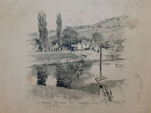 Vintage Frank Patterson  The Ferry Brockwier Wye Valley print