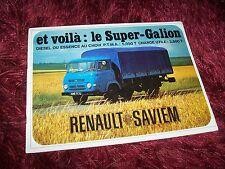 Catalogue  /  Brochure RENAULT SAVIEM Super Galion 196?  //
