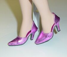Doll Shoes, 42mm METALLIC DARK PINK Easy to Wear for Sybarite, MA Alex