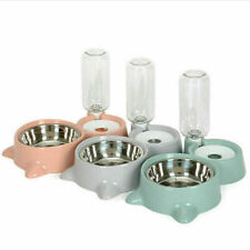 New Automatic Pet Dog Bunny Cat Food Water Dispenser Dish Bowl Feeder Drinking