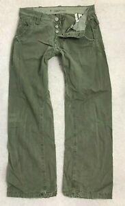 G-Star Raw Dexter Chino Loose Fit Denim Jeans Mens W33 L32 Khaki Green Combats