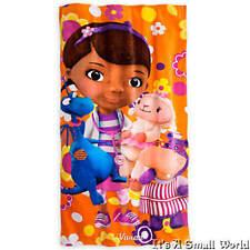 """Disney Store Doc McStuffins Floral Beach Towel 60"""" H x 30"""" W NWT"""