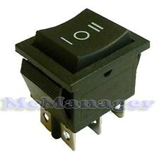 Black DPDT ON-OFF-ON Rocker Switch O-I:Momentary O-II:Latching