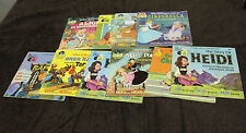 Vintage Walt Disney Read Along Books and Record Collection Lot of 10