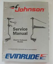 507752 Johnson Evinrude 1988 Service Shop Manual Electric Outboard Models