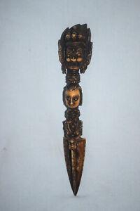 Phurba, Tibet, Mahkala, Toten-und Drachenköpfe, Nagas, 19cm