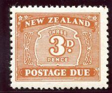 New Zealand 1939 KGVI Postage Due 3d orange-brown superb MNH. SG D44. Sc J25.