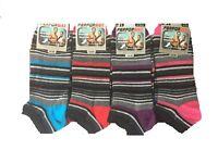 12 Pairs Mens Multi Striped Rich Cotton Trainer socks, Sport Socks Size 6-11