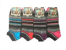 3 Pairs Mens Multi Striped Rich Cotton Trainer socks, Sport Socks Size 6-11