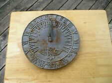 """Vintage 10"""" Sundial """" Grow Old Along With Me The Best Is Yet To Be"""""""