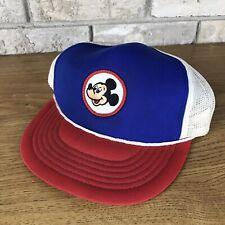 Vintage Mickey Mouse Walt Disney Production Baseball Cap Hat Patch Snapback USA