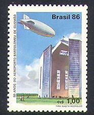 Brazil 1986 Airport/Zeppelin/Aircraft/Balloon/Airship/Transport 1v (n38238)