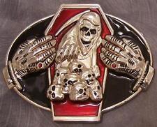 Pewter Belt Buckle novelty Grim Reaper  NEW