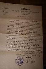 extrait acte de naissance Alsace Turckheim An 1812
