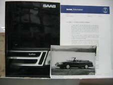 1988 SAAB 9000 CD PREMIERE MONDIALE DOSSIER DE PRESSE