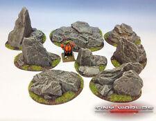 Rocky Outcrops Resin Scenery Set - Wargames Terrain Rocks Boulders Warhammer